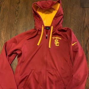 Nike USC Trojans therma-fit zip up hoodie Sz m